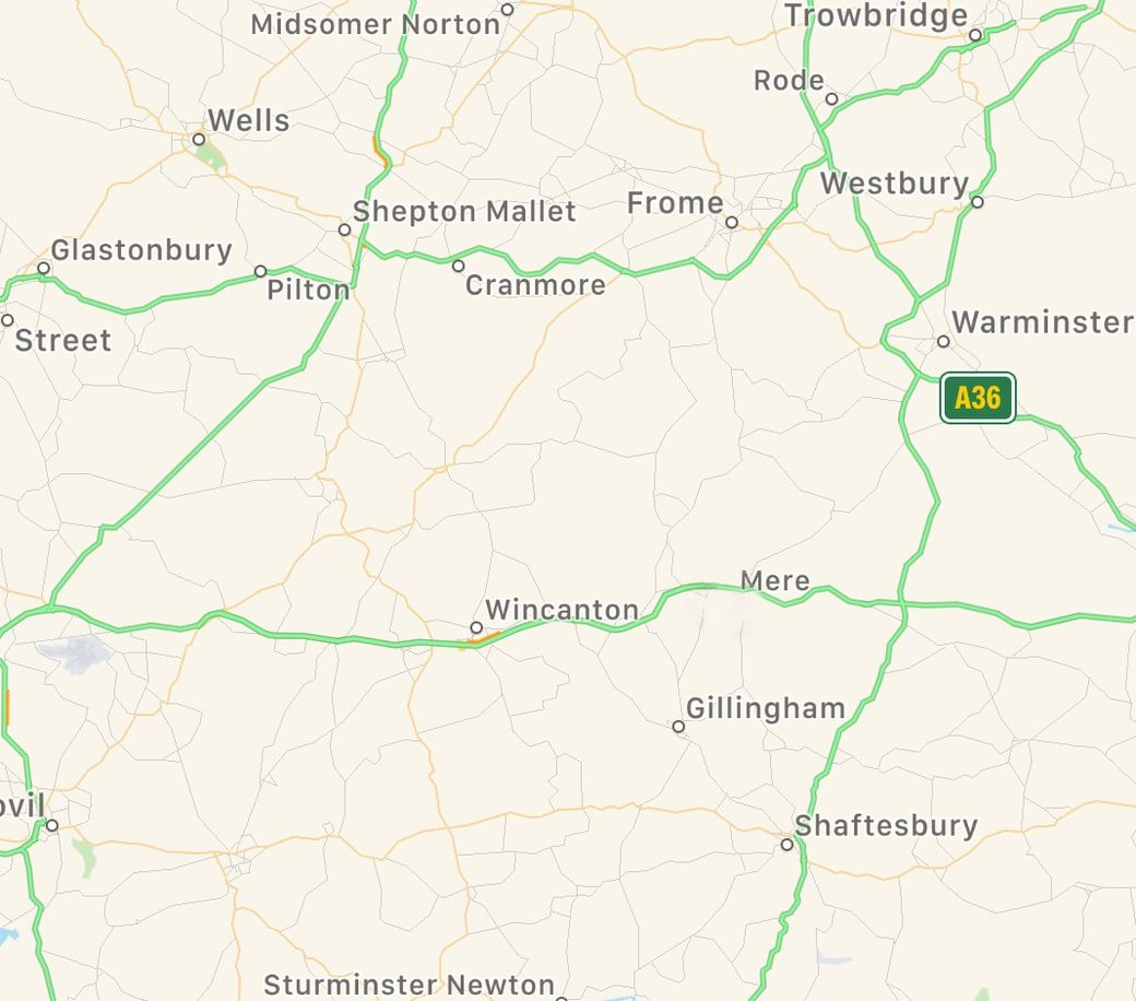 Map showing areas served across Somerset, Wiltshire, and Dorset